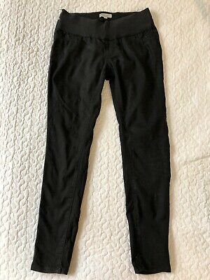 Target Maternity 8 black jeggings jeans pants ankle grazer under the bump