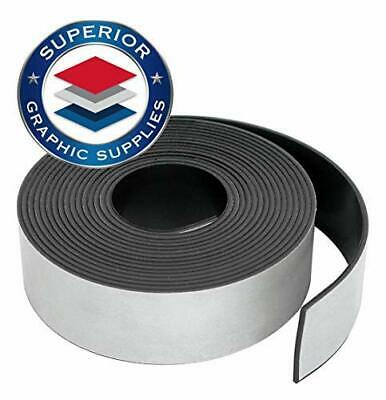 """Self Adhesive Strong Flexible Magnetic Tape Roll Durable 0.03"""" Thick-1 Roll Pack"""