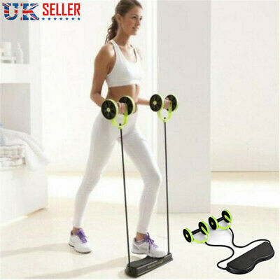 Core Double Wheel Fitness Abdominal Power Roll Trainer Waist Slimming Exerciser