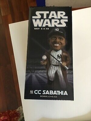 NEW Box NY YANKEES CC SABATHIA JEDI STAR WARS SGA 5-4-19 BOBBLEHEAD BOBBLE HEAD