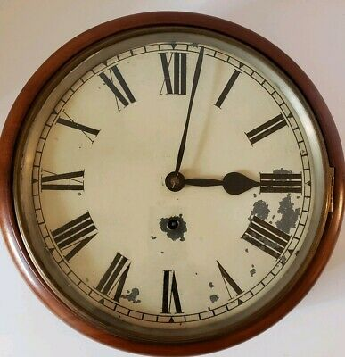 Antique Working ANSONIA CLOCK CO Round Gallery Galley Lobby Regulator Wall Clock