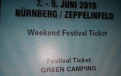 Rock Im Park Weekend Festival Tickets 07.06.19-09.06.19 General Camping Tickets