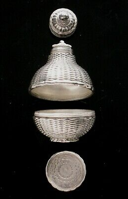 18th German Silver 2-section POMANDER spice Bottle