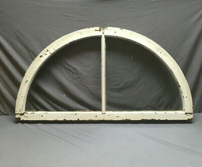 Antique Arch Window Sash Half Round Dome Top 2 Lite Transom Vtg 174-19L