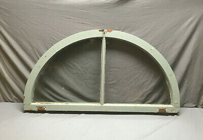 Antique Arch Dome Top Half Round Window Sash 2 Lite Transom Vtg 175-19L