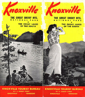 Knoxville Tennessee Vintage 1940's Travel Brochure Smoky Mountain National Park