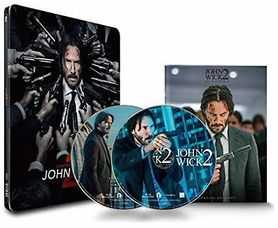 John Wick Chapter 2 Edition Collectionneur Steelbook Blu-Ray F/S W / Suivi #