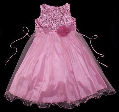 3bbb1e861b452 KIDS DREAM BIG Girls Dusty Rose Sequin Tulle Plus Size Party Dress ...