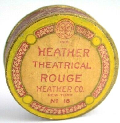 VTG Heather New York Theatrical Rouge No. 18 Cosmetic Carton Container Box