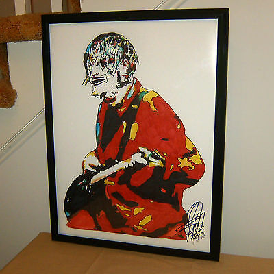"""Jim Root Slipknot Printed Box Canvas Picture A1.30/""""x20/""""x.30mm Deep Heavy Metal"""