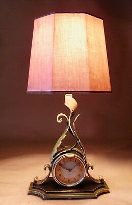 Smiths Sectric Electric Table Lamp Clock circa 1940-1950