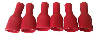 Fully Insulated Female Crimp Spade Connectors push on Terminals - Red