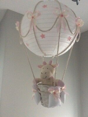 nursery child's hot air balloon lightshade
