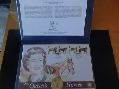 2002 Silver Proof Gold Plated Bvi $10 Coin Cover Coa Folder Golden Jubilee