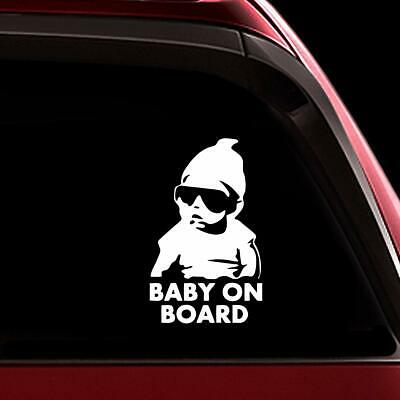 Little Man On Board Baby Child Window Bumper Car Sign Decal Sticker