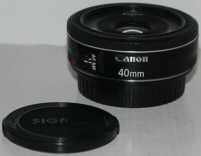 Canon EF 40mm f/2.8 STM 'pancake' prime lens, in good used condition
