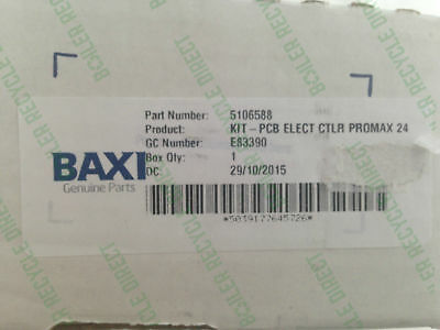 Baxi - Promax 24HE Electronic Control PCB - 5106588 5106798 - New