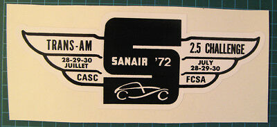 Canada Sanair 1972 Trans Am Racing - Vinyl Decal Sticker - 7 1/4 X 2 3/4