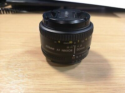 Nikon AF Nikkor 50 mm f/1.8D Lens. used, VGC, free UK post