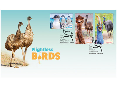 First day Flightless Birds gummed stamps cover