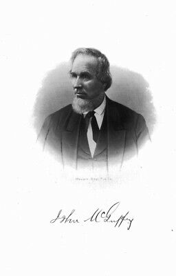 JOHN MCGUFFEY, Groveport, OH. Courtright, engraving