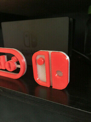 Nintendo Switch video game sign 3d printed videogame switch Accessory!