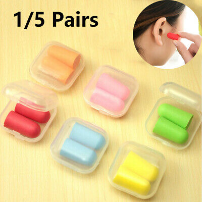 1/5 Pairs Box Packed Anti-noise EarPlugs/foam sleep travel hearing protector