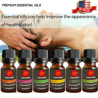 Aromatherapy Essential Oils For Diffuser 100% Natural Pure Fragrances 10ml US