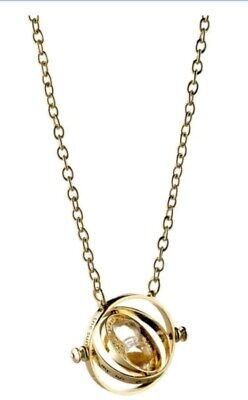 2x Harry Potter Gold Time Turner Hermione Granger Rotating Necklace USA Shipping
