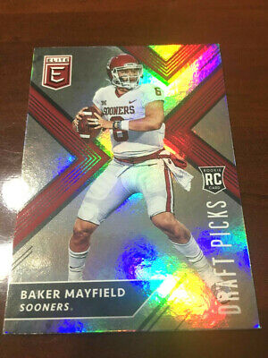 2018 Elite Football Baker Mayfield Rookie Card Lot 1350 Picclick