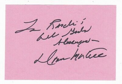 Donna Martell Autograph On Paper Inscribed Actress Abbott & Costello - Bonanza