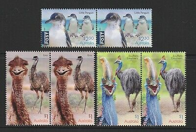 Australia 2019 : Flightless Birds, Design Set, Joined pairs, Mint Never Hinged.
