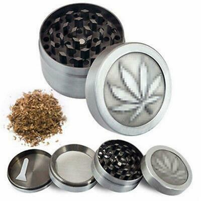 Leaf Design 4 Layers Herb Grinder Spice Tobacco/Weed Smoke Zinc Alloy Crusher AU