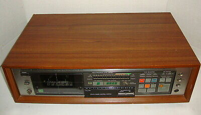 Vintage Teac V-95Rx Woodgrain Auto Reverse Cassette Player Tested