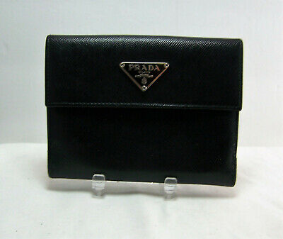 acc98b5ec3d3e2 100% Authentic Prada Black Saffiano Leather Bifold Wallet Pre Loved See  Details