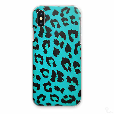 Blue Leopard Print Phone Case Animal Print Hard Cover For Apple Samsung Huawei…