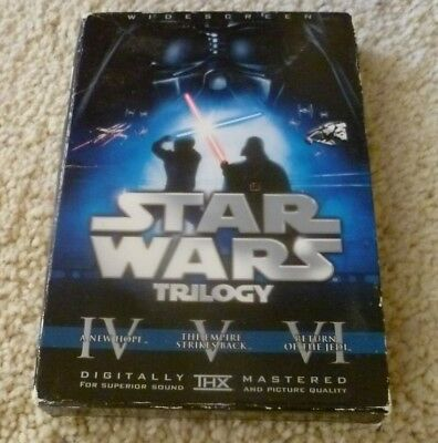 STAR WARS TRILOGY 6 Disc Widescreen Theatrical Harrison Ford Carrie Fisher