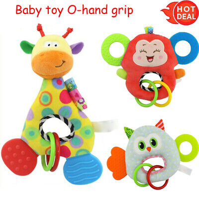 Newborn Baby Infant Animal Soft Rattles Teether Hanging Bell Plush Bebe Toys ,