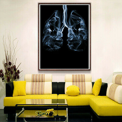Lung Smoke Fog Canvas Art Painting Poster Living Room Picture Home Wall Decor