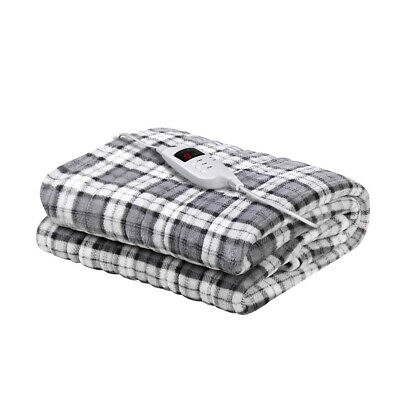 Giselle Bedding Electric Throw Rug Flannel Snuggle Blanket Washable Heated