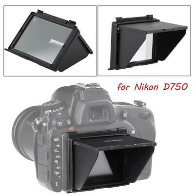 Black External Plastic Sunshade Hood Cover LCD Screen Protector for Nikon D750