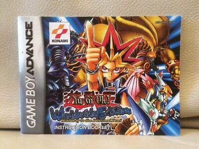 Yu-Gi-Oh! Stairway To The Destined Duel Nintendo Game Boy Advance Instructions