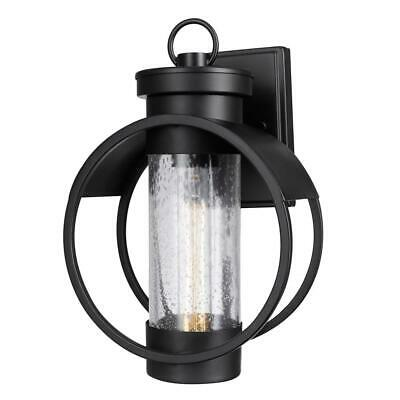 Globe Electric Balvin 1-Light Black Outdoor Wall Mount Sconce