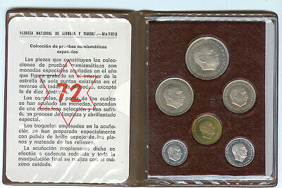 Afm53 Moneda -1972 Cartera De La Fnmt Proof