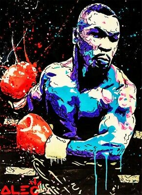 Alec Monopoly Mike Tyson Handmade Oil Painting on Canvas art Decor 24X36 inch