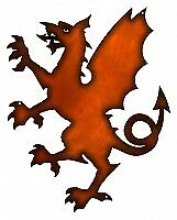 VINTAGE ANTIQUE Style Metal Sign Dragon Thrones Game Faux Copper 11x14
