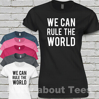 Take That Ladies Fitted T-shirt SONG LYRICS WE CAN RULE THE WORLD Concert Tour