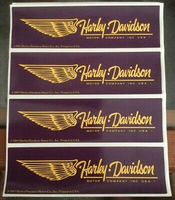 Rare Vintage Wing Harley-Davidson Motor Company Inc USA 1985 Decals/Stickers