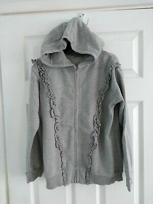 Girls Next Grey Sparkly/Glitter Hooded Tracksuit Top Size 14 Years
