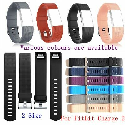 Replacement Watch Strap Wrist Band For FitBit Charge 2 Classical Metal Buckle UK
